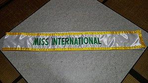 Miss International - Miss International Sash