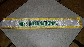 Miss International - Miss International sash