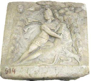 Mircea Vodă, Constanța - Image: Mithraic relief Mircea Voda 2