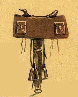 Pony Express mochila - Mochila leather cover over saddle