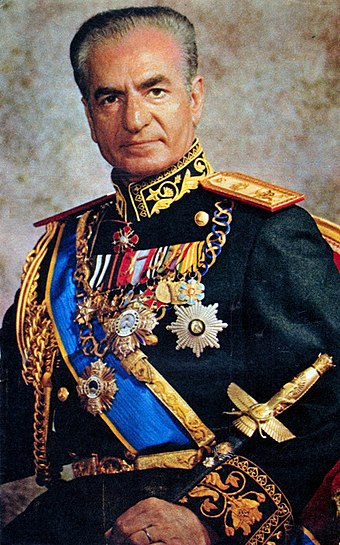 Mohammad Reza Pahlavi, Shahanshah of Iran from 1941 to 1979, was the last ruler to hold the title of shah. Mohammad Reza Pahlavi 2.jpg