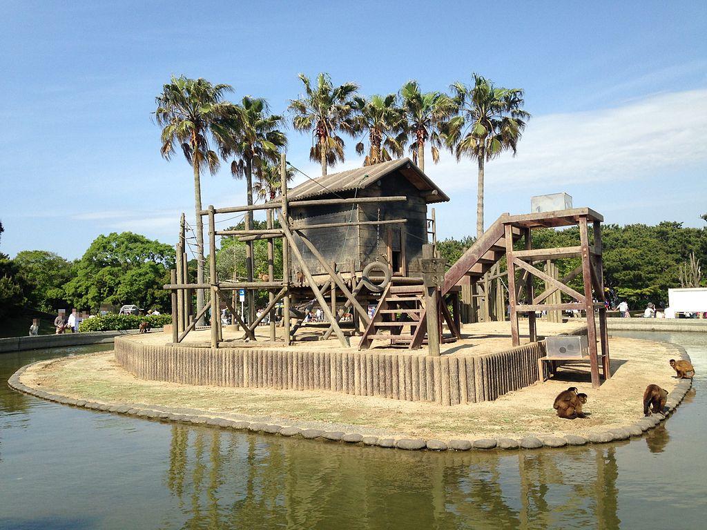 Monkey Island in Animal Forest, Umino Nakamichi Seaside Park