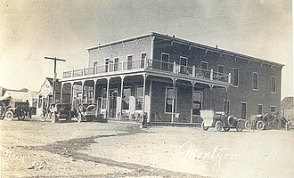 Beatty, Nevada - The Montgomery Hotel in 1905. It was owned by Bob Montgomery, namesake of the Montgomery-Shoshone Mine in nearby Rhyolite.