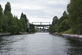 Montlake Bridge - East side of the bridge as seen from Lake Washington.