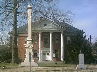 Montross, Virginia - Courthouse in Montross, with historic marker in foreground