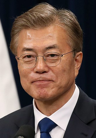 President of South Korea - Image: Moon Jae in May 2017