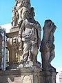 Most, 1. náměstí, morový sloup, svatá Anežka Římská.jpg