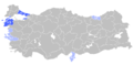 Mother language in 1965 Turkey census - Greek.png