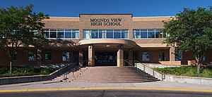 Mounds View High School - Mounds View High School from the northeast