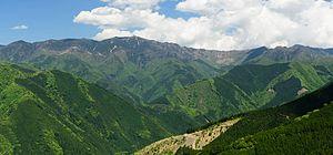 Mount Hakkyō - From left to right : Mount Chōsen, Mount Misen and Mount Hakkyō, Mount Myōjō, Mount Bussyō