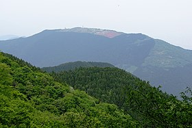 Mount Yamato Katsuragi from Mount Kongō on the road below Katsuragi Shrine