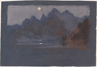 Mountains in Moonlight
