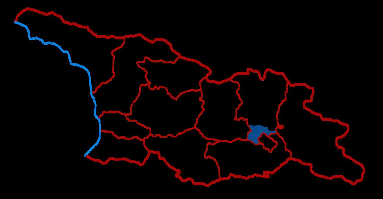 Localização de Mtskheta dentro da Geórgia
