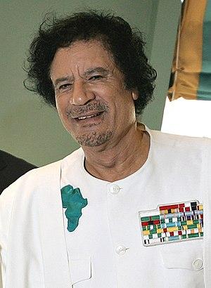 Muammar Gaddafi's response to the 2011 Libyan Civil War - Muammar Gaddafi, leader of Libya before he was killed during the Libyan Civil War