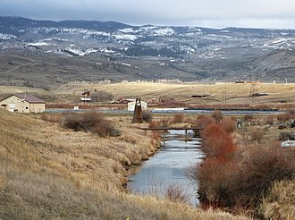 Muddy Creek (Colorado) - The creek in Kremmling, just before it empties into the Colorado River.