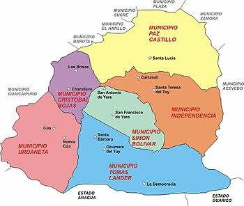 Municipios Valles del Tuy