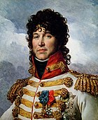 Portrait of Marshal Joachim Murat in a flashy white uniform with lots of gold braid