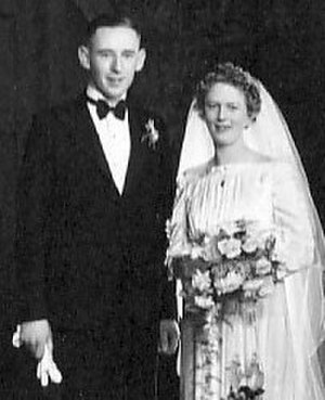 Murray Tyrrell - Murray and Ellen Tyrell on their wedding day, 6 May 1939