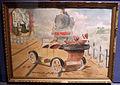 Museo bernareggi, collezione di ex-voto, auto sulle rotaie del treno, anni 1920.JPG