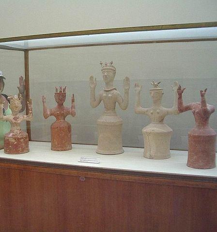Minoan Bell Jar Goddess Figurines