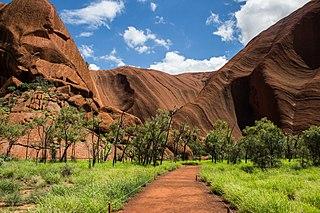 Mutitjulu Town in the Northern Territory, Australia