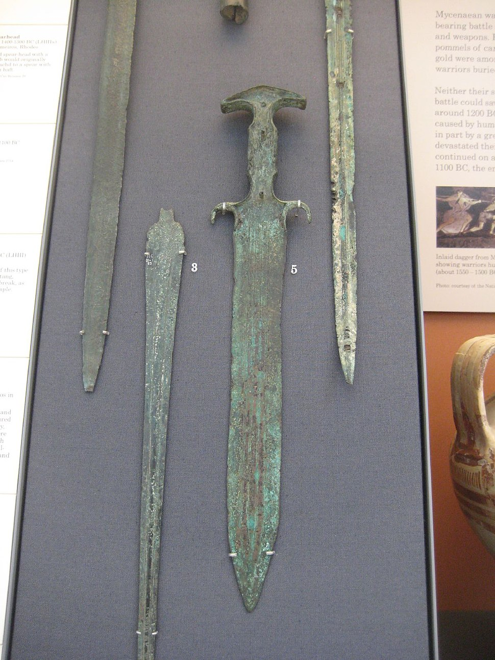 Mycenaean Bronze Dagger
