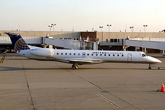 ExpressJet - United Express Embraer ERJ-145 operated by ExpressJet, the largest ERJ operator in the world