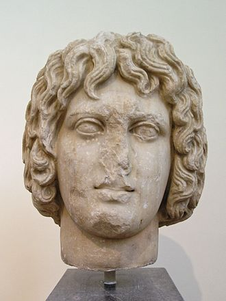 Eubuleus - This marble head, sometimes thought to be the work of Praxiteles, probably depicts Eubuleus
