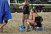 NCAA beach volleyball match at Stanford in 2016 (25800098873).jpg