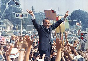 Republican Party presidential primaries, 1968 - Richard Nixon campaign rally