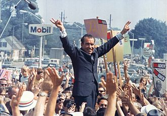 1968 United States presidential election - Richard Nixon campaign rally, July 1968