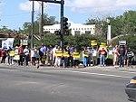 NM Unions Protest John McCain at Hotel Albuquerque (2672898119).jpg