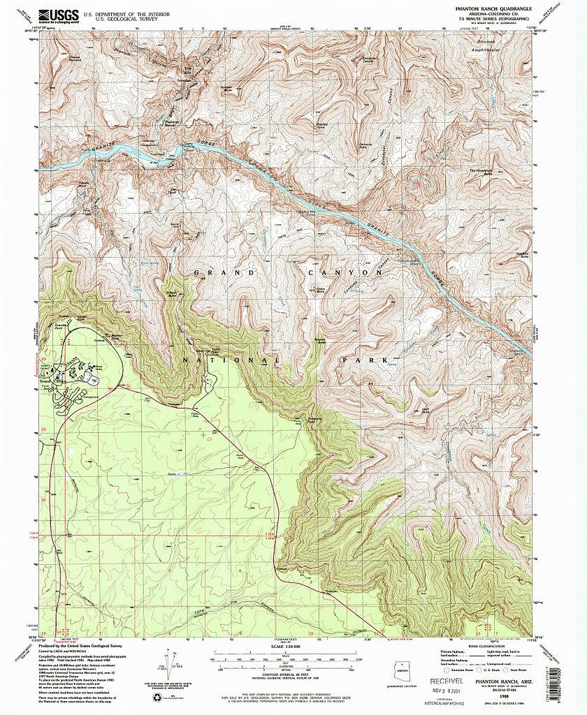 FileNPS Grandcanyonsouthrimeasttopomapjpg Wikimedia Commons - Grand canyon us map