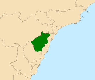 Electoral district of Lake Macquarie - Location in the Central Coast region