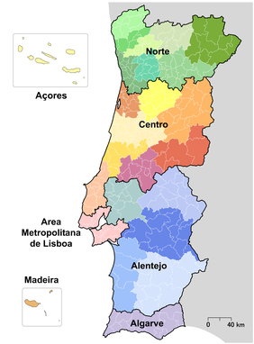 mapa nuts iii portugal NUTS de Portugal – Wikipédia, a enciclopédia livre mapa nuts iii portugal