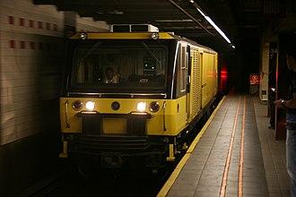 New York City Subway rolling stock - A Vaktrak track vacuuming train