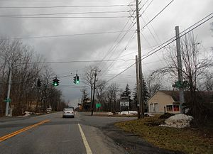 New York State Route 354 - Image: NY 354 approaching Elma