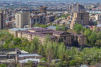 National Assembly (Armenia) - Aerial view of the building and premises