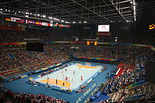 National Indoor Stadium, Bronze Medal Handball Match 2008.jpg