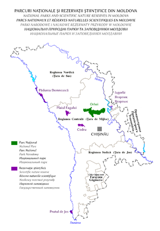 Protected areas of Moldova - Scientific nature reserves and national parks of Moldova