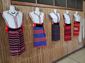 Ifugao - Hagabi (left) and native dress (right) in Banaue Museum