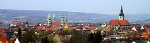 Naumburg - Panoramic view over Naumburg