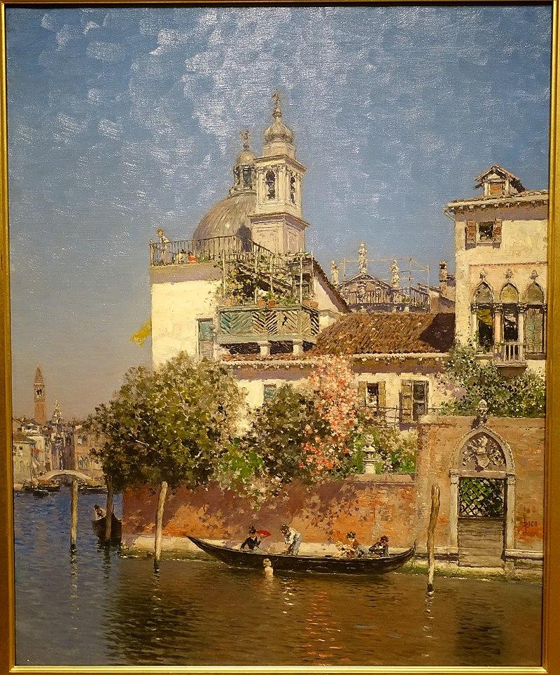 Рядом с Гранд - каналом, Венеция, Мартин Рико и Ортега, 1908, холст, масло - Художественный музей Карриер-Манчестер, Нью-Йорк - DSC07254.jpg
