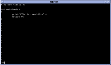 Description de l'image NetBSD 6.1 vi C Hello World.png.