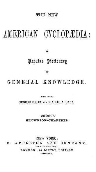 New American Cyclopædia - Title page from the New American Cyclopædia (1858)