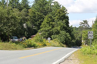 New Hampshire Route 112 - Image: New Hampshire Route 112 at western terminus US302