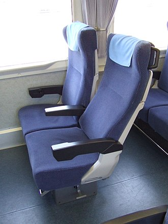 Seibu 10000 series - Image: New Seat of Seibu Railway New Red Arrow