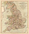 New and improved map of England and Wales - including the principal part of Scotland - whereon are carefully delineated all the mail and turnpike roads direct and cross - with the various alterations LOC 2018588029.jpg