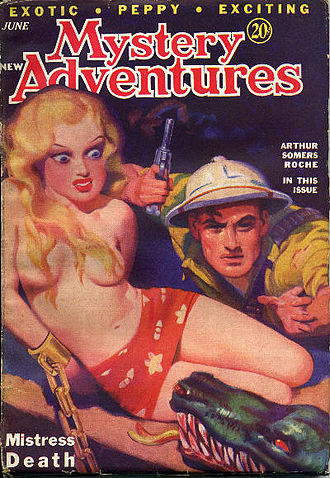 """Steve Fisher (writer) - Fisher's """"Mistress Death"""" was the cover story on the May–June 1936 issue of New Mystery Adventures"""