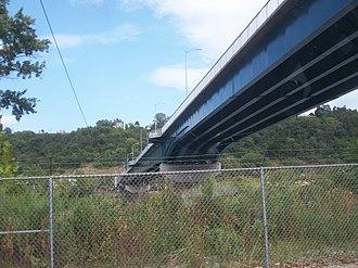 Charleroi-Monessen Bridge - Image: Newcharleroimonessen